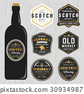Vintage scotch whiskey label template 30934987
