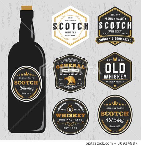Vintage Scotch Whiskey Label Template