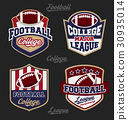 Set of football college league badge logo 30935014