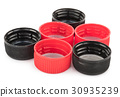 Red and black plastic stoppers 30935239