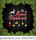 Merry Christmas Greeting Card 30935853