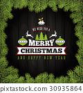 Merry Christmas Greeting Card  30935864