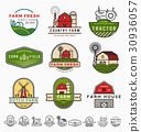 Vintage modern farm logo template design 30936057