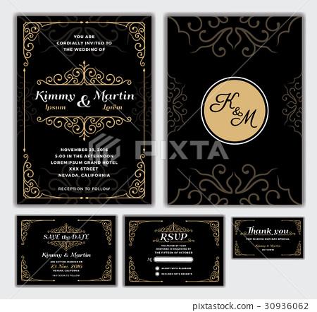 Elegant Wedding Invitation Design - Stock Illustration [30936062 ...