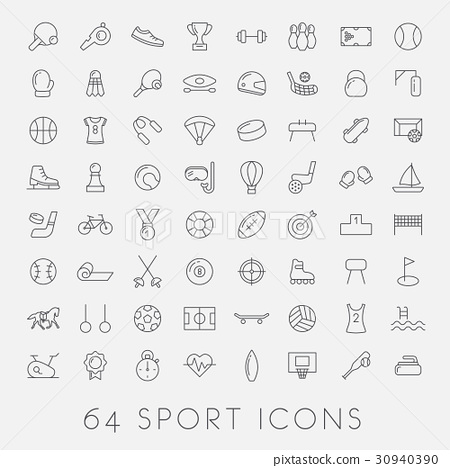 big set of sport icons 30940390