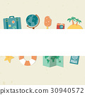Summer holidays background with travel icons 30940572