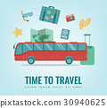 Travel background. Summer holidays. Travel and 30940625