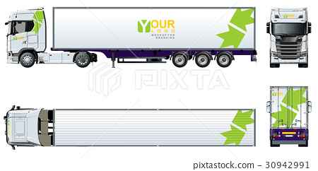 vector truck template for brand identity stock illustration