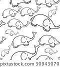 pattern, animal, elephant 30943070