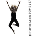 Ballerina dancer dancing woman  isolated silhouett 30943147