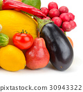 fruits and vegetables isolated on white background 30943322
