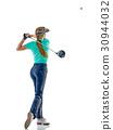 高尔夫 高尔夫球手 抠图 30944032