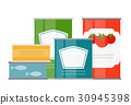 flat, can, vector 30945398