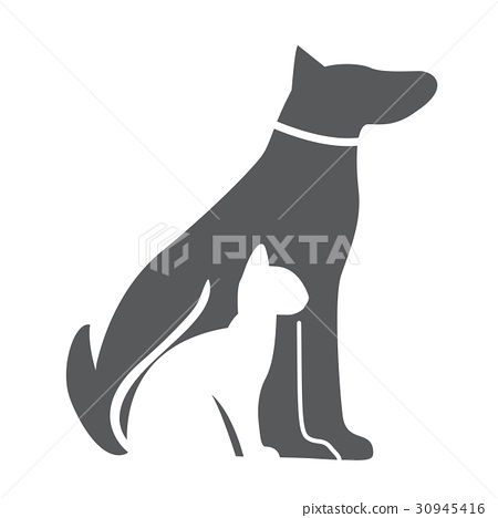 Pet Dog And Cat Icon Material For Design Stock Illustration