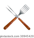 BBQ and Grill Tools. Vector Illustration 30945420