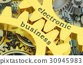 Electronic Business concept on the gears 30945983
