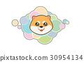 Vector illustration Dog 's head in cartoon style 30954134