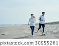 beach, running, man 30955261