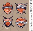 Set of basketball logo design  30958850