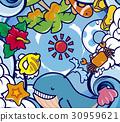 summer, vector, vectors 30959621
