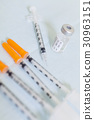 Syringes and Vial of Cosmetic Surgery Botox 30963151