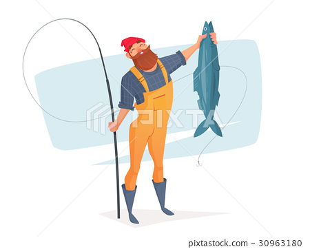Vector illustration for rest on a fishing trip. 30963180