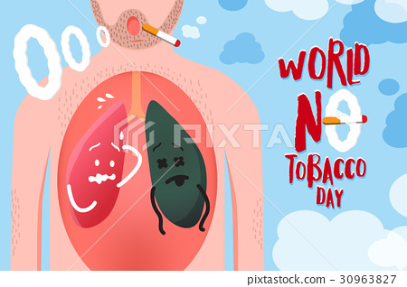 Vector illustration World no tobacco day Campaign 30963827
