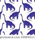 vector set silhouettes of dinosaur,animal 30964011