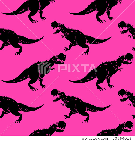 vector set silhouettes of dinosaur,animal 30964013