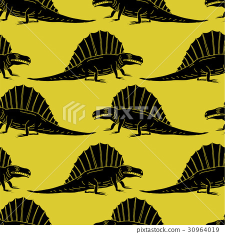 vector set silhouettes of dinosaur,animal 30964019