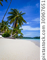 tropical paradise lagoon 30967651
