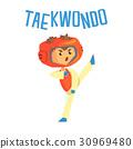 boy taekwondo vector 30969480