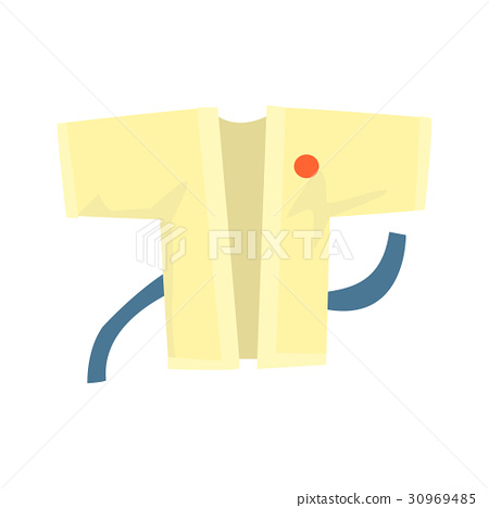 Kimono with a blue belt, martial arts clothing 30969485