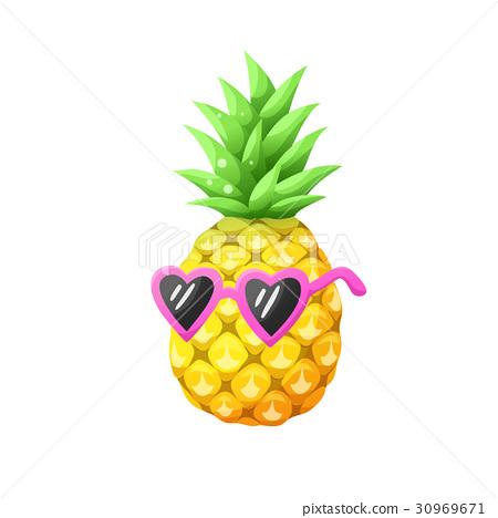 vector pineapple icon 30969671