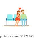 love, sitting, vector 30970263