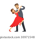 Professional dancer couple dancing tango colorful 30971548