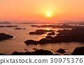 九十九島 鋸齒狀的海岸線 日落 30975376