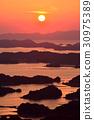 九十九島 鋸齒狀的海岸線 日落 30975389