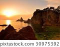 笹川流(地方) 沉沒的岩石 風景 30975392