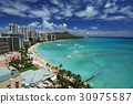 Hawaiian scenery Waikiki Beach 30975587