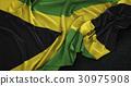 Jamaica Flag Wrinkled On Dark Background 3D Render 30975908