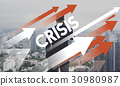 Businessman Investment Risk Crisis Word 30980987