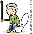西式马桶 卫生间 厕所 30987683