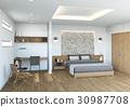 bedroom, interior, interiors 30987708