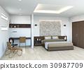 bedroom, interior, interiors 30987709