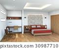 bedroom, interior, interiors 30987710
