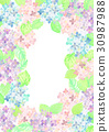 繡球花框架 30987988