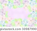 繡球花框架 30987990