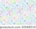 hydrangea, water color, watercolor 30988010