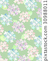 hydrangea, water color, watercolor 30988011